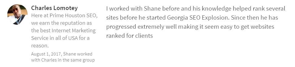 Georgia SEO Explosion LinkedIn Testimonial 4